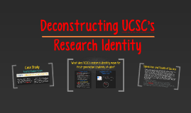 Deconstructing UCSC's Research Identity