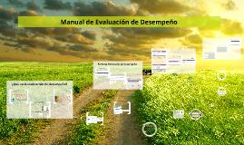 Manual de Evaluación de Desempeño