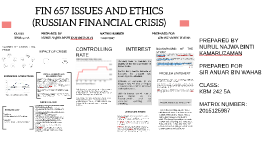 FIN 657 ISSUES AND ETHICS