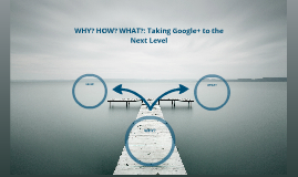 Why How What - Taking Google+ to the Next Level