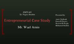 Entrepreneurial Case Study