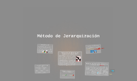 Copy of Método de Jerarquización
