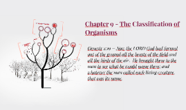 Chapter 9 - The Classification of Organisms (Lecture)
