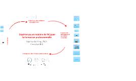 Experiences de l'Integration TIC dans la formation professionelle