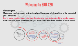 May 3 EDU 429 Day 24 Instructional Strategies Process