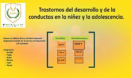 Copy of TRASTORNOS DEL DESARROLLO Y DE LA CONDUCTA EN LA NIÑEZ