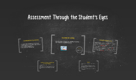 Assessment Through the Student's Eyes