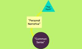 Personal Narrative Discourse