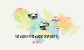 Introduction speech