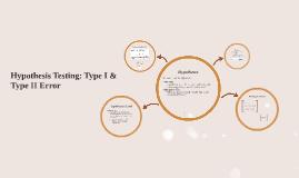 Hypothesis Testing: Type I & Type II Error