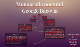 Monografia poetului George Bacovia