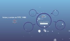 Actas y cartas en NTC 1486
