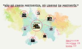 Não há lingua portuguesa, há linguas em português;