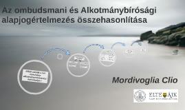 Az ombudsmani és Alkotmánybírósági alapjogértelmezés összeha