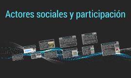 Actores sociales y participacion