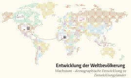 Entwicklung der Weltbevölkerung