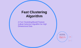 Copy of Fast Clustering Algorithm