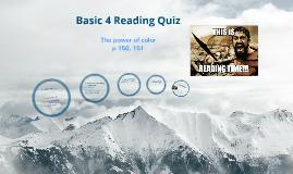B-4 Reading Quiz
