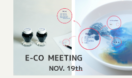 E-CO MEETING Nov.19th
