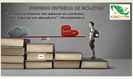 PRIMERA ENTREGA DE BOLETAS