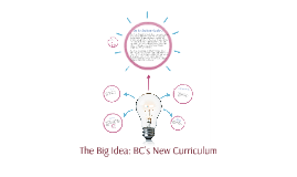 The Big Idea: BC's New Curriculum