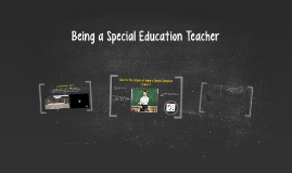 Being a Special Education Teacher