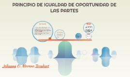 Copy of PRINCIPIO DE IGUALDAD DE OPORTUNIDAD DE LAS PARTES