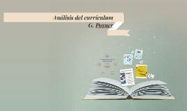Análisis del currículum
