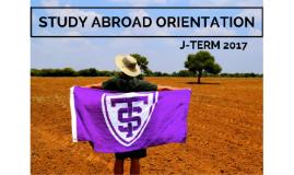 J-Term 2017 Orientation