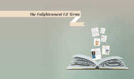 The Enlightenment Lit Terms