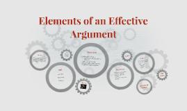 Elements of an Effective Argument