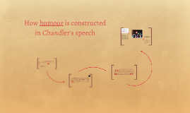How humour is constructed in Chandle's speech