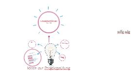 Ideen zur Projektprüfung