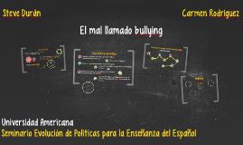 El mal llamado bullying