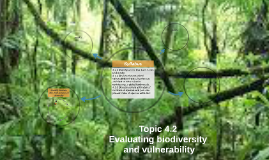 Topic 4.2 Evaluating biodiversity and vulnerability