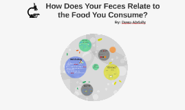 How does your feces relate to the food you consume?