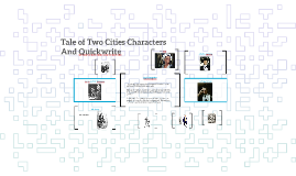 Tale of Two Cities Characters and Quickwrite