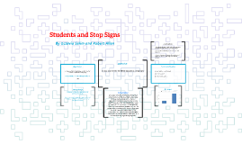 Students and Stop Signs