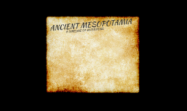 Ancient Mesoptamia