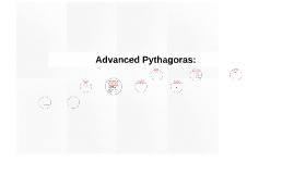 Planning for Advanced Pythagoras