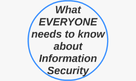 What EVERYONE needs to know about Security