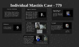 Individual Mastitis Case - 779