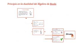 Principio en la dualidad del Álgebra de Boole.