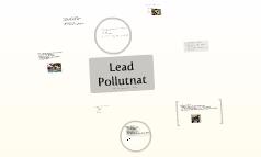 Lead Pollutant