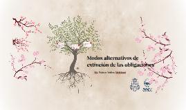 Modos alternativos de extinción de las obligaciones