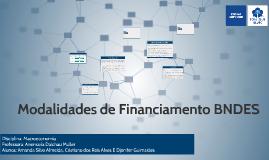 Modalidades de Financiamento BNDES