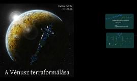 Vénusz terraformálás