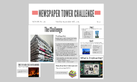 NEWSPAPER TOWER CHALLENGE