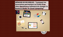 Copy of Soutenance Mémoire (FLOSS & Cloud) INSEEC