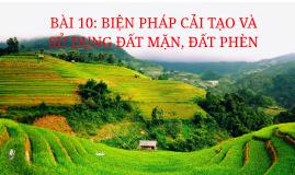 BÀI 10: BIỆN PHÁP CẢI TẠO VÀ